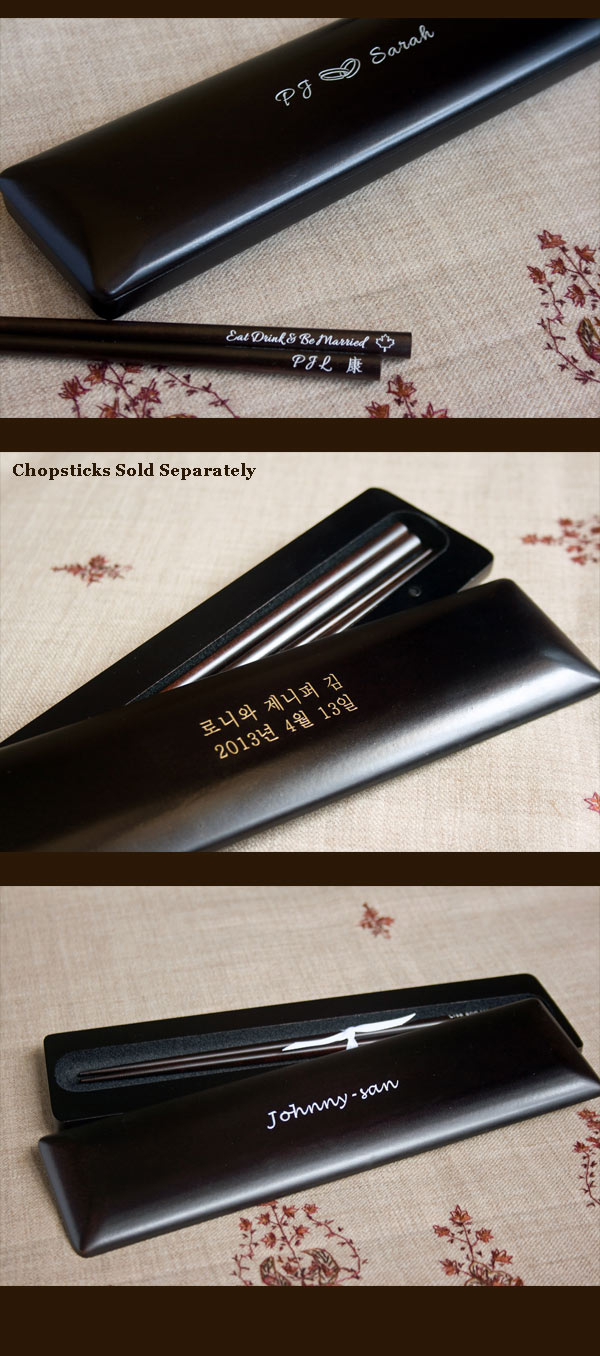 Personalized chopsticks for 2